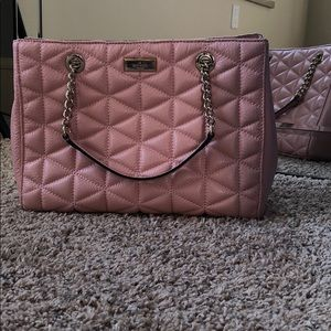 Kate Spade Baby Pink Quilted Bag